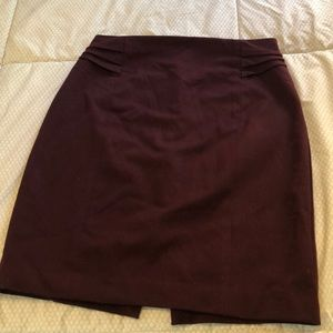 Express wine colored pencil skirt